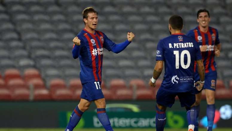 Nick Fitzgerald scored in Newcastle Jets' victory in the A-League. GOAL
