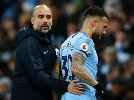 Otamendi is not happy - Guardiola