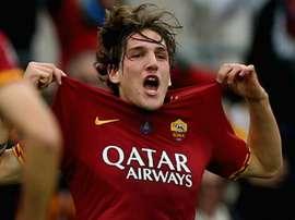 Zaniolo 'very happy' at Roma amid Man United links. AFP