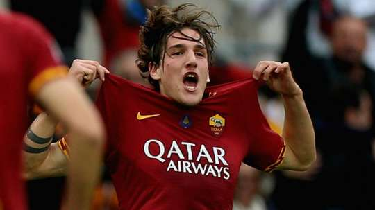Zaniolo 'very happy' at Roma amid Man United links. AFP