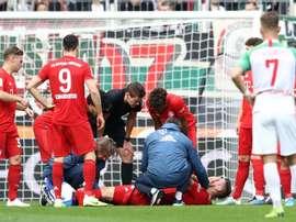Il centrale del Bayern Sule è finito ko. Goal