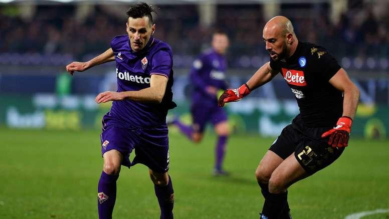 Nikola Kalinic Pepe Reina Fiorentina Napoli Serie A