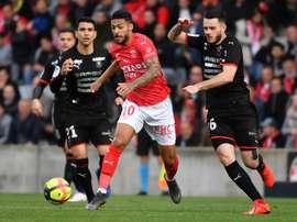 Nîmes bat Rennes aux Costières. AFP