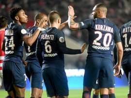 PSG won the game 3-0. Goal