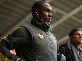 Odion Ighalo dans avant un match de Premier League avec Watford. AFP