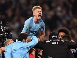 Oleksandr Zinchenko after the League Cup victory. GOAL