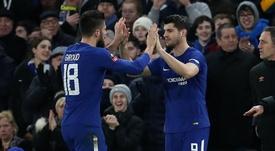 Olivier Giroud, Alvaro Morata, Chelsea, 17/18. Goal