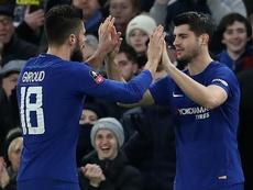 Alvaro Morata is set to displace teammate Olivier Giroud. GOAL