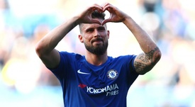 Olivier Giroud is happy at Chelsea. GOAL