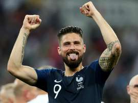 Giroud moved past Trezeguet after scoring against Iceland. GOAL