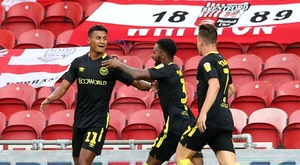 Watkins single handedly gave Brentford the three points at Oakwell. GOAL
