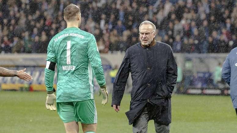 Rummenigge convaincu que Neuer va rester au Bayern. Goal