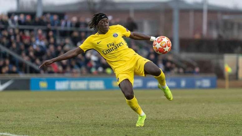 Tanguy Coulibaly PSG Paris Saint-Germain. Goal