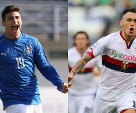 Orsolini (left) and Ocampos. Goal