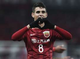 Oscar has been banned for eight games after starting a mass brawl. GOAL
