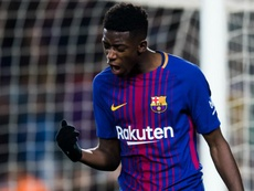 Barca have no concerns about Dembele on or off the pitch. AFP