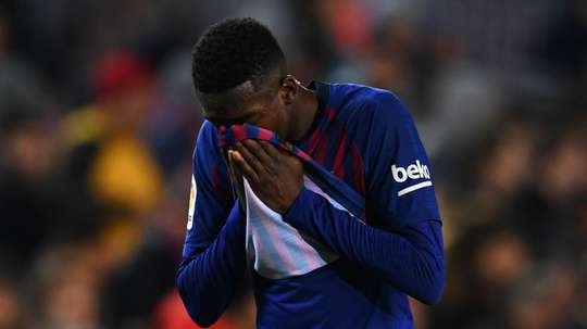 Dembele has been ruled out for two weeks with a sprained anke. GOAL