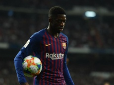 Dembele had been a concern prior to Barca's match against Lyon. GOAL