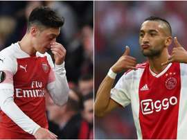 Overmars says he recommended Arsenal to sell Ozil (L) and take Ziyech (R). GOAL