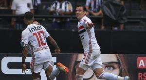 Pablo comemora volta aos gramados pelo São Paulo. GOAL
