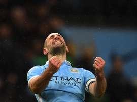 Pablo Zabaleta, joueur du Manchester City lors d'un match de Premier League. AFP