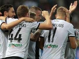 Parma-Frosinone 2-1: Hernani nel recupero, gialloblu agli ottavi. Goal