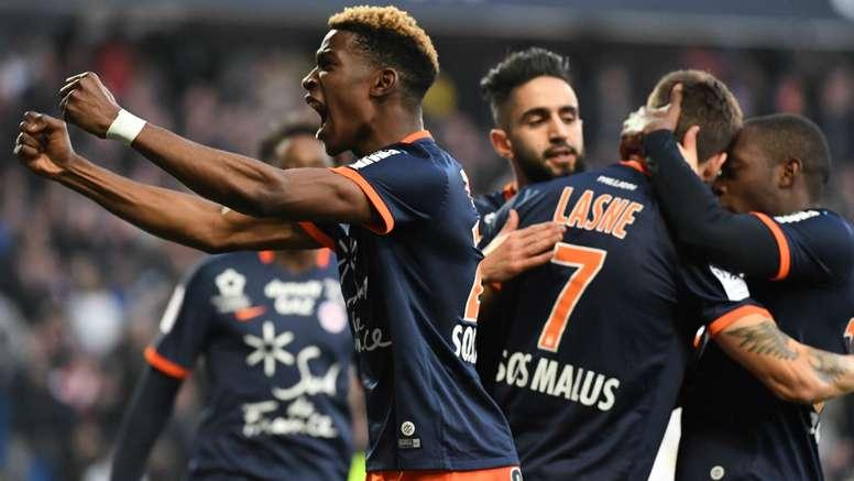 Paul Lasne lors du match Montpellier - Saint-Etienne, Ligue 1. GOAL