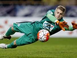 Le gardien numéro trois de l'équipe de France Espoirs Paul Nardi. Goal
