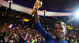 Paul Pogba France celebrations. AFP