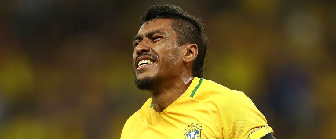 Paulinho sous le maillot de la 'Canarinha'. AFP