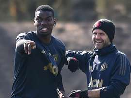 Teammate and friend Juan Mata wants Pogba (pictured) to stay at the club. GOAL