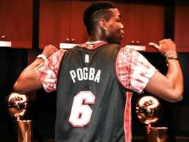 Pogba watches Heat in Miami