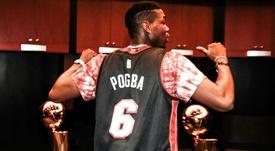 Pogba watches Heat in Miami