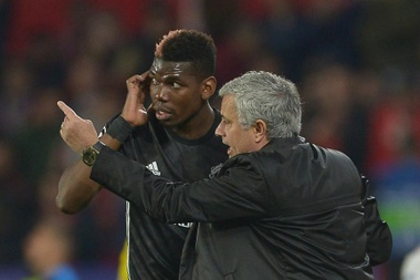 Pogba and Mourinho appear to be at loggerheads. GOAL