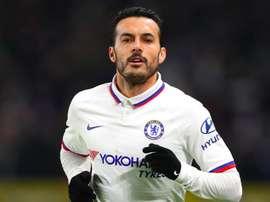 Pedro verso la Roma.Goal