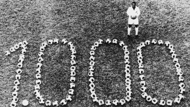 Pele reached 1000 goals. GOAL