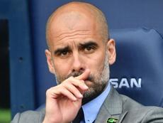 L'entraîneur de Manchester City, Pep Guardiola, lors d'un match de Premier League. AFP