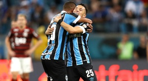 Gremio 1-1 Flamengo: Pepe salvages draw for hosts in Libertadores semi-final first leg.