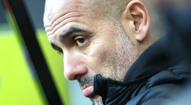 Guardiola's Man City are 11 points off leaders Liverpool. GOAL