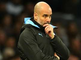 Manchester City boss Guardiola gearing up for tough transfer window. AFP