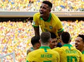 Sans Neymar, le Brésil danse encore. AFP