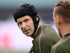 Cech made a farewell appearance in the Europa League final. GOAL