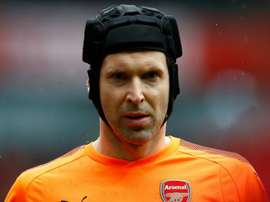 Cech pulled his hamstring whilst taking a goal kick. GOAL