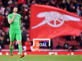 Cech touché à la cuisse. Goal