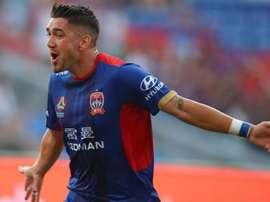Petratos netted a late penalty to give Newcastle Jets the three points. GOAL