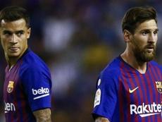 Coutinho fait l'éloge de Messi. Goal