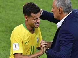 Philippe Coutinho & Tite. Goal