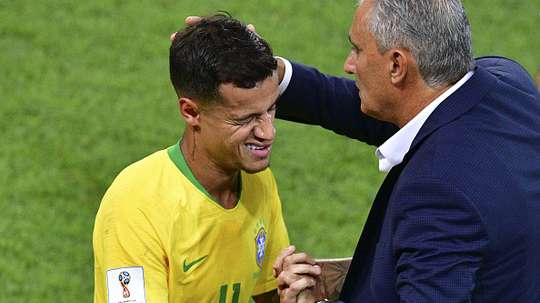 Philippe Coutinho & Tite. Goal