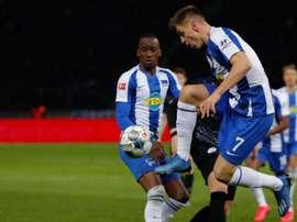 Piatek subito in campo con l'Hertha Berlino. Goal