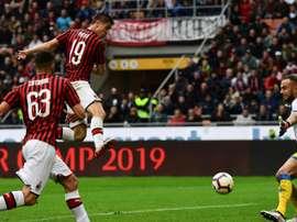 Milan-Frosinone 2-0. AFP